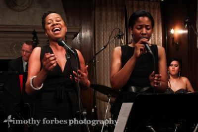 Deborah Bond and  Integriti Reeves on vocals with Regan Brough, bass and Isabelle De Leon, drums
