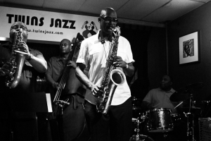 Paul Carr, saxophone, Bruce Williams, saxophone, Allyn Johnson, piano, Howard Franklin, drums, and Herman Burney, bass