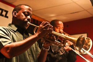 Kenny Rittenhouse, trumpet and Reginald Cyntje, trombone