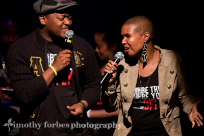 Dante Pope and Akua Allrich, vocals
