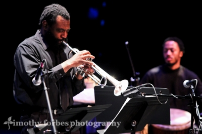 John Williams, trumpet with Jabari Exum, percussion
