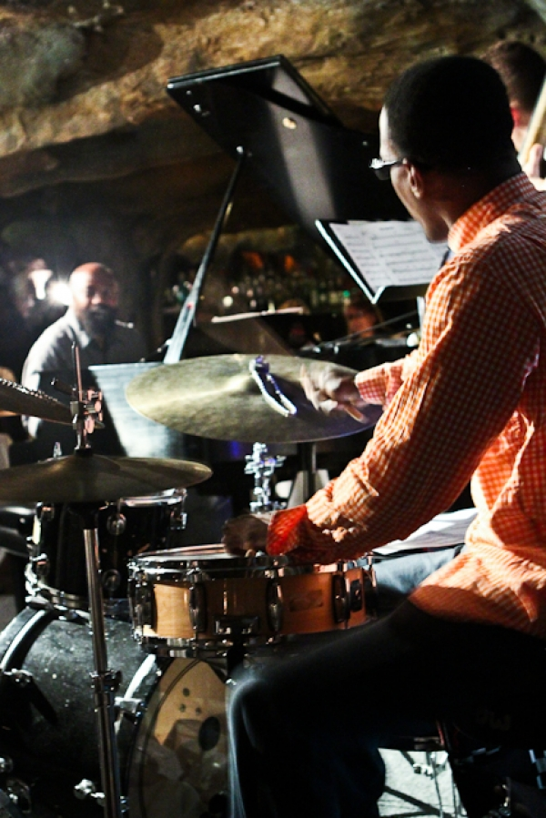Quincy Phillips, drums and Allyn Johnson, piano