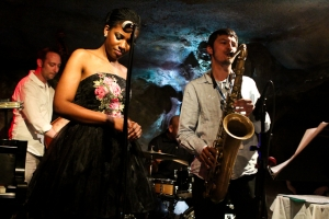 Integriti Reeves, vocals, Elijah Balbed, saxophone, Jeff Reed, bass and John Lamkin, drums