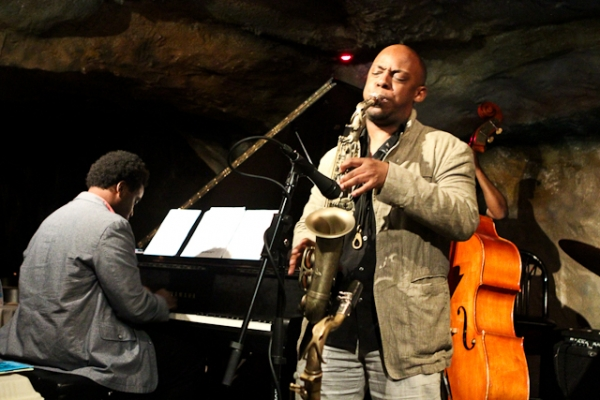 Marcus Strickland, saxophone David Bryant, piano and Ameen Saleem, bass