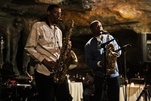 Tim Green, alto saxophone and Quamon Fowler, tenor saxophone
