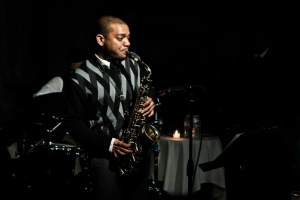 Herb Scott, saxophone with Kush Abadey, drums