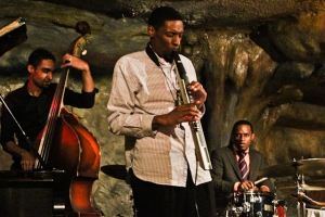 Quamon Fowler, EWI, Quincy Phillips, drums and Kris Funn, bass