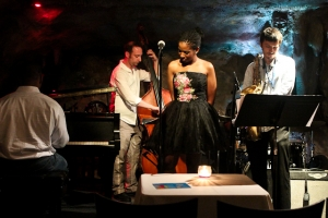 Warren Wolf, piano, Integriti Reeves, vocals, Elijah Balbed, saxophone and Jeff Reed, bass