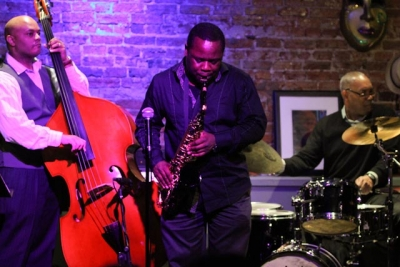 Antonio Parker, saxophone with Russell Sledge, bass and Keith Killgo, drums
