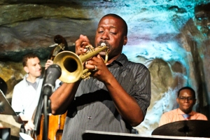 Kenny Rittenhouse, trumpet with Quincy Phillips, drums and Zach Brown, bass