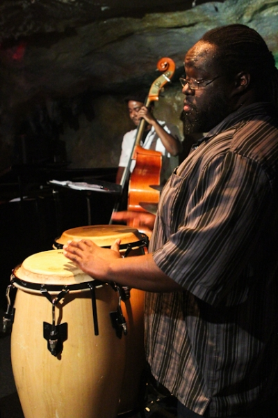 Agyei Akoto, congas and Ameen Saleem, bass