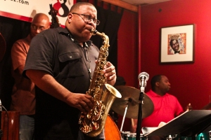 Bruce Williams, sax, with Herman Burney on bass and Howard Franklin, drums